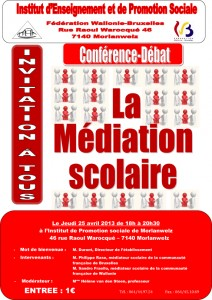 conférence mediation scolaire 25 avril 2013